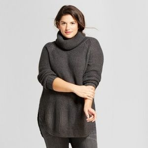 A New Day cowl neck chunky tunic sweater - XS